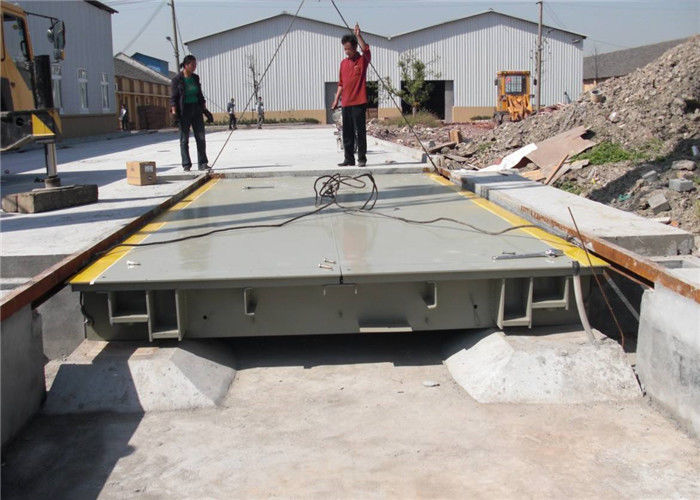 3m*18m Heavy Duty Weighbridge Rated Load 20 - 180T U Shape Beam Platform Structure
