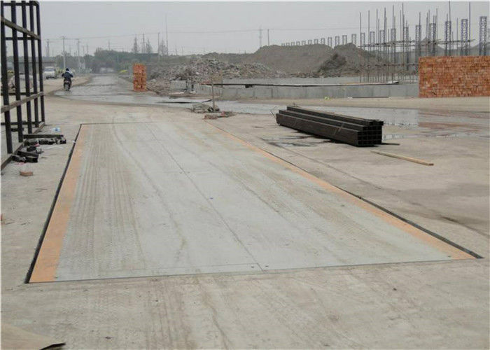 60 Ton Rated Load Truck Weighbridge 10mm Thickness Perfect Detection Means