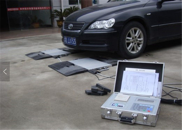 Small Moveable Dynamic Axle Weighbridge , Vehicle Weighing Pads 10kg Division