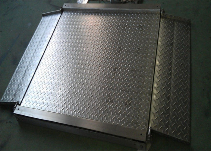 Double Ramps Industrial Floor Scale 4mm Thickness Platform No Moving Parts